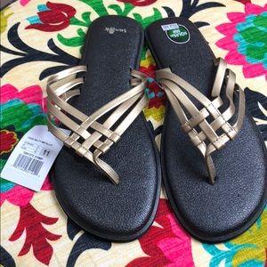 Sanuk Yoga Salty Metallic Sandals